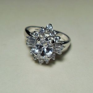 Beautiful Sterling silver White Sapphire Ring